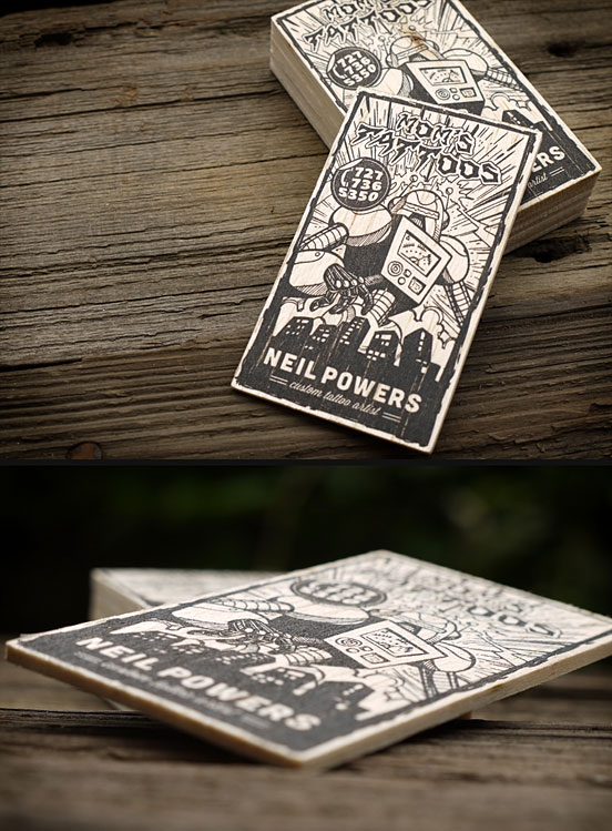 Mom's Tattoos Business Cards by Print&Grain