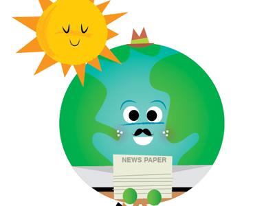 Mr Globe Recycles by Rob McClurkan