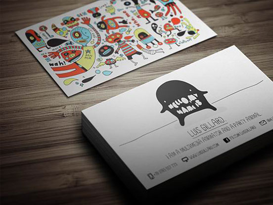 Multimedia Artist Business Card by Theme Flava