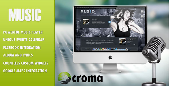 musicbigbanner   large preview1 20 Premium Entertainment Wordpress Themes