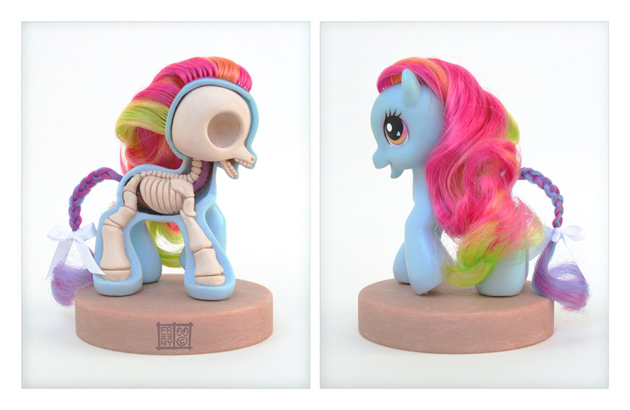 my little pony anatomy sculpt by freeny d2zb8kh1 Creative Character Anatomy Sculptures by Jason Freeny
