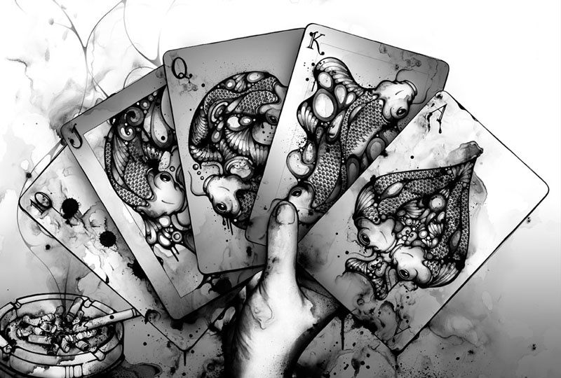 nc 3 Black and White Illustrations by Nanami Cowdroy