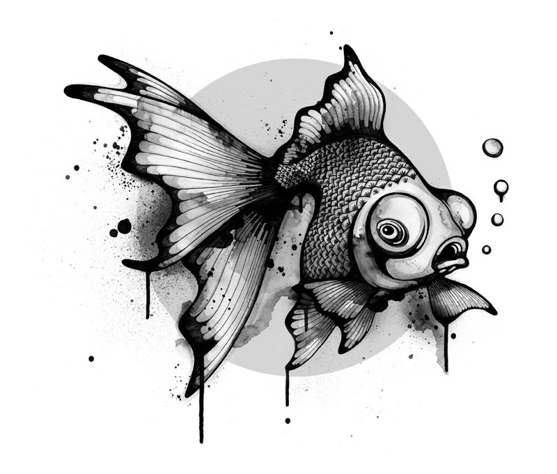 nc 5 Black and White Illustrations by Nanami Cowdroy