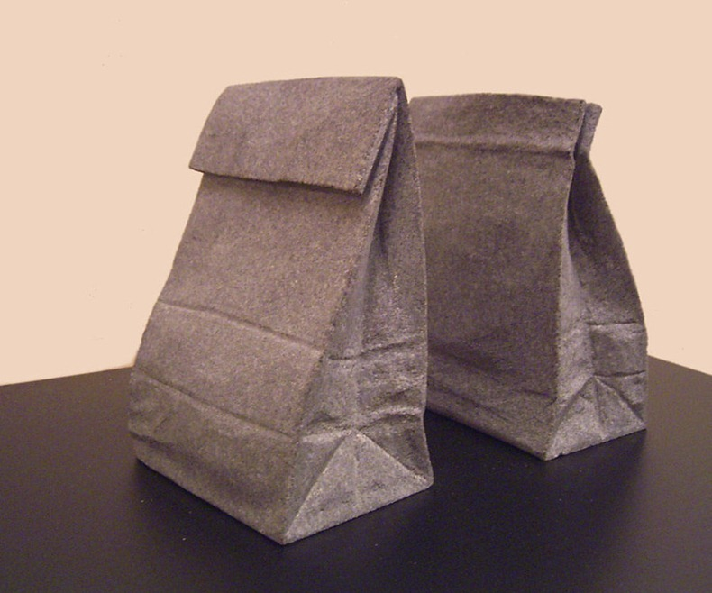 paper sack bookend by jiyuseki2 Groundbreaking Stone Sculptures by Hirotoshi Itoh