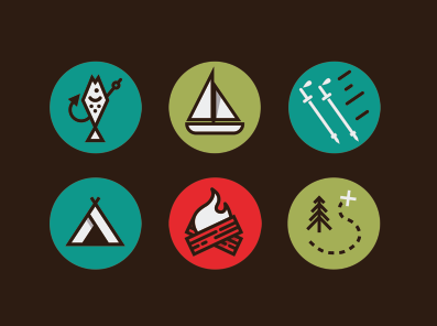 Outdoor Activity Icons by Jesus