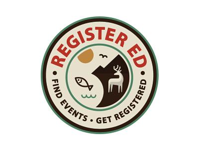 Register-ed logo / badge by Jesus