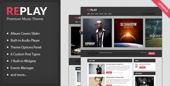 preview   large preview1 20 Premium Entertainment Wordpress Themes