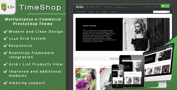 preview   large preview11 Clean and Modern E commerce Prestashop Themes