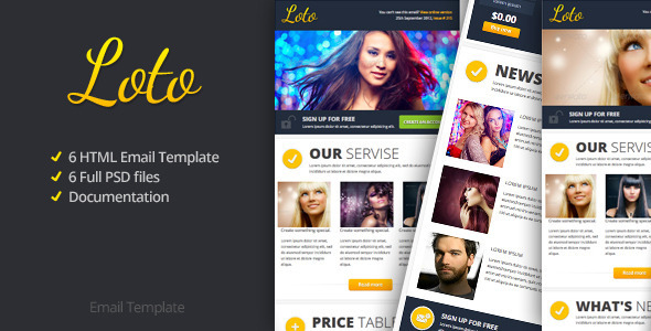 Loto Email Template