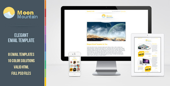 preview moonmountain   large preview1 45 Email Templates For Your Marketing Campaign