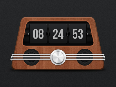 radio clock1 35 Inspirational Clock & Watch Designs