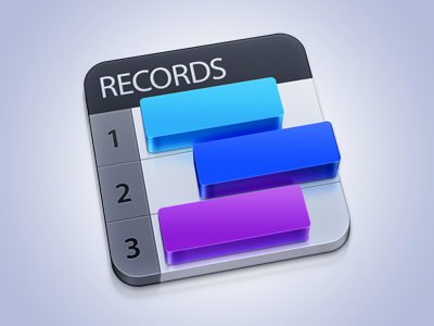 Records App Icon - Mac OS X