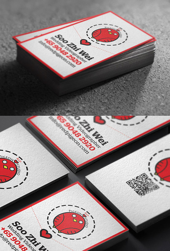 red pigeon studio business card l1 25 Illustration Based Business Card Designs