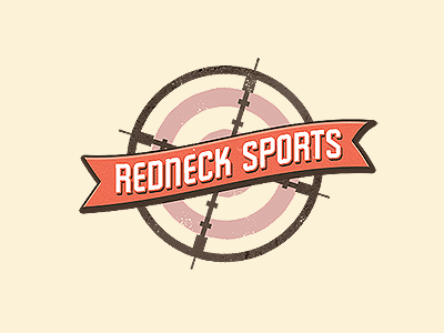 rednecksports1 30 Creative Ribbon Logo Designs