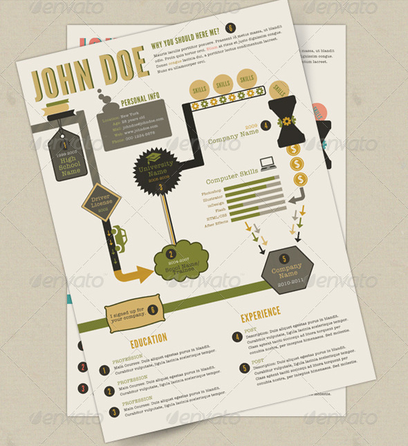 Retro-Infographics-Resume