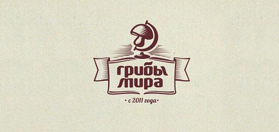 ribbon logos mushrooms1 30 Creative Ribbon Logo Designs
