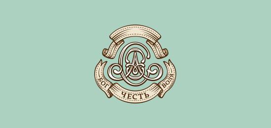 ribbon logos oac monogram1 30 Creative Ribbon Logo Designs