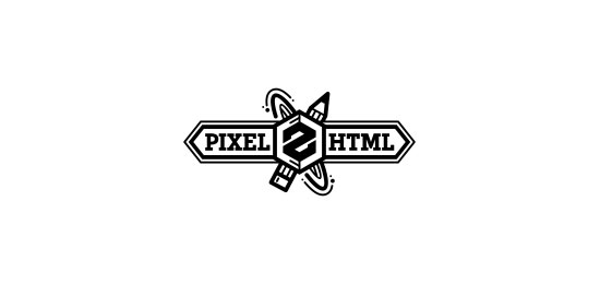 ribbon logos pixel 2 html1 30 Creative Ribbon Logo Designs