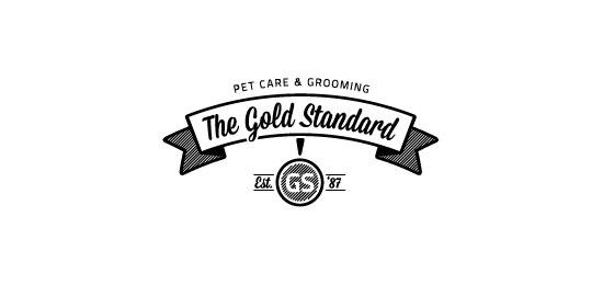 ribbon logos the gold standard1 30 Creative Ribbon Logo Designs