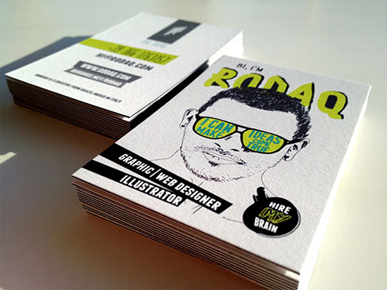 rodaq business card l1 25 Illustration Based Business Card Designs