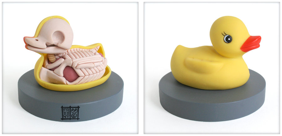rubber ducky anatomy sculpt by freeny d3ccs8h1 Creative Character Anatomy Sculptures by Jason Freeny