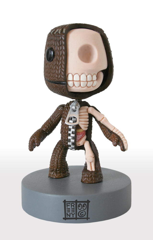 sackboy anatomical sculpt by freeny d3cteco Creative Character Anatomy Sculptures by Jason Freeny