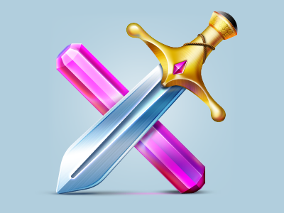 Luxterra Sword Icon by Vladimir Gorz
