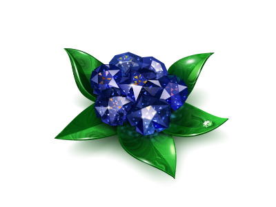 Gem Flowers for Vkontakte by Iconka