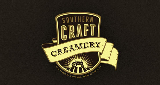 southern craft creamery branding concept l1 30 Creative Ribbon Logo Designs