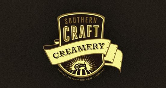 southern craft creamery branding concept l1 30 Creative Ribbon Logo Designs