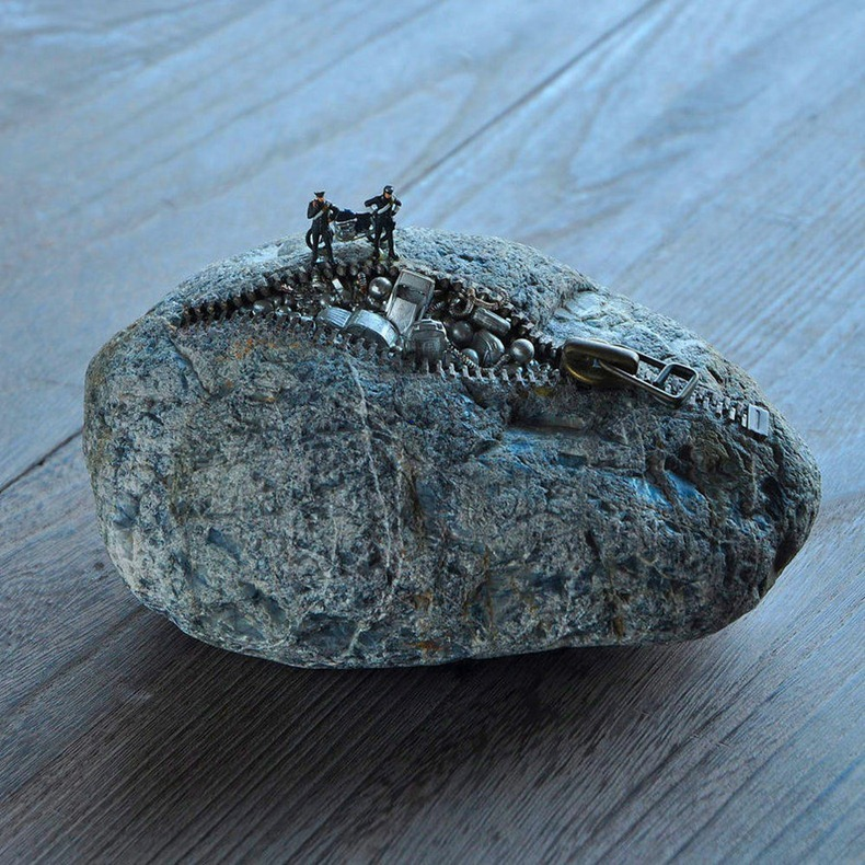 star of garbage by jiyuseki2 Groundbreaking Stone Sculptures by Hirotoshi Itoh
