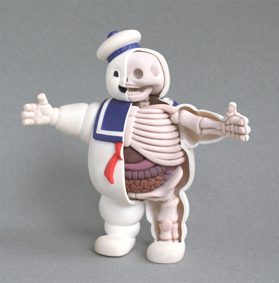 stay puft anatomy sculpt by freeny d2zue66 Creative Character Anatomy Sculptures by Jason Freeny