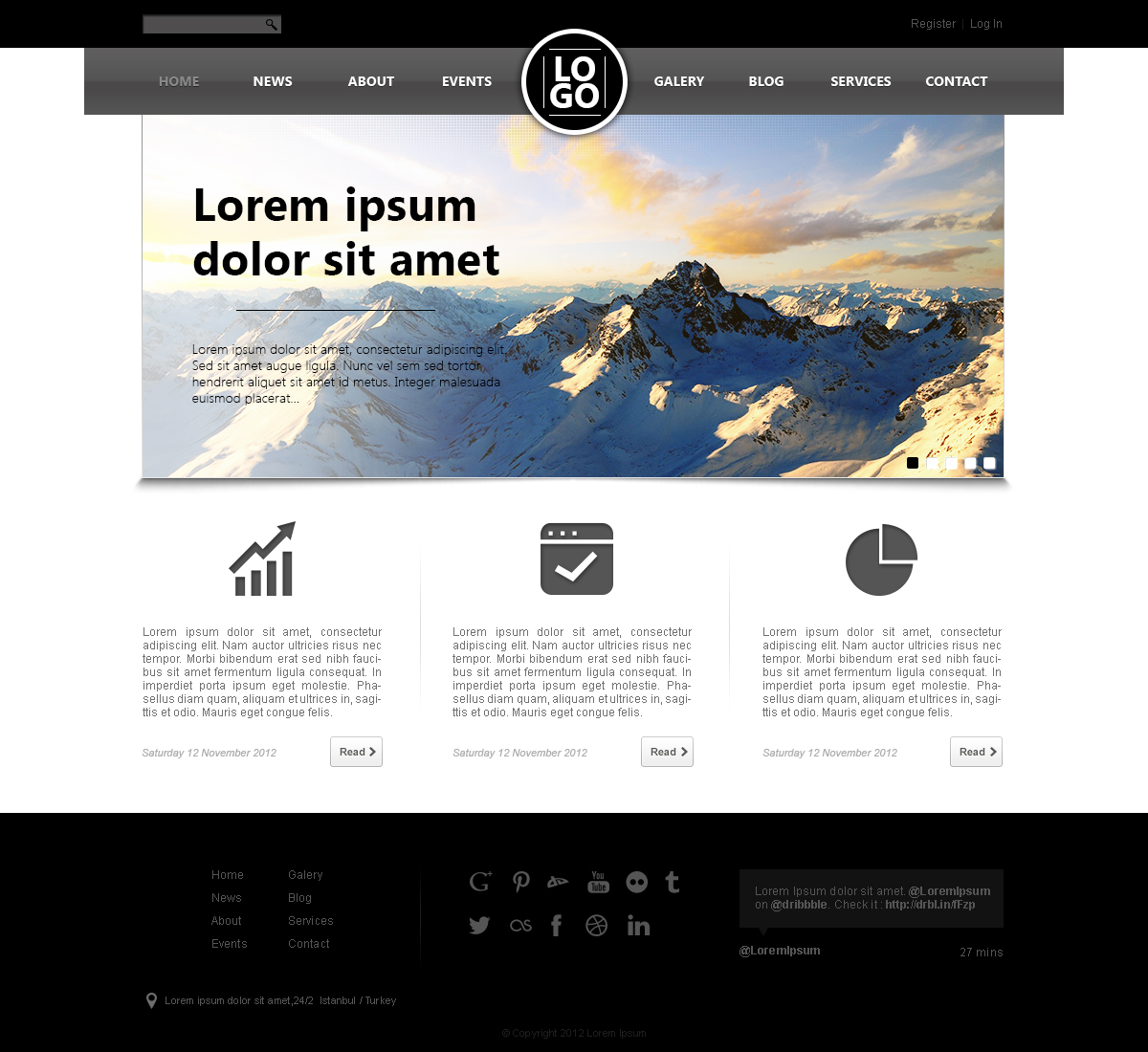 Well designed psd website templates for free download for Blueprint websites