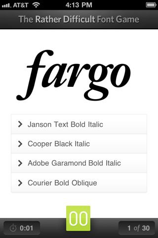 the font game Top 5 Smartphone Apps For Typographers