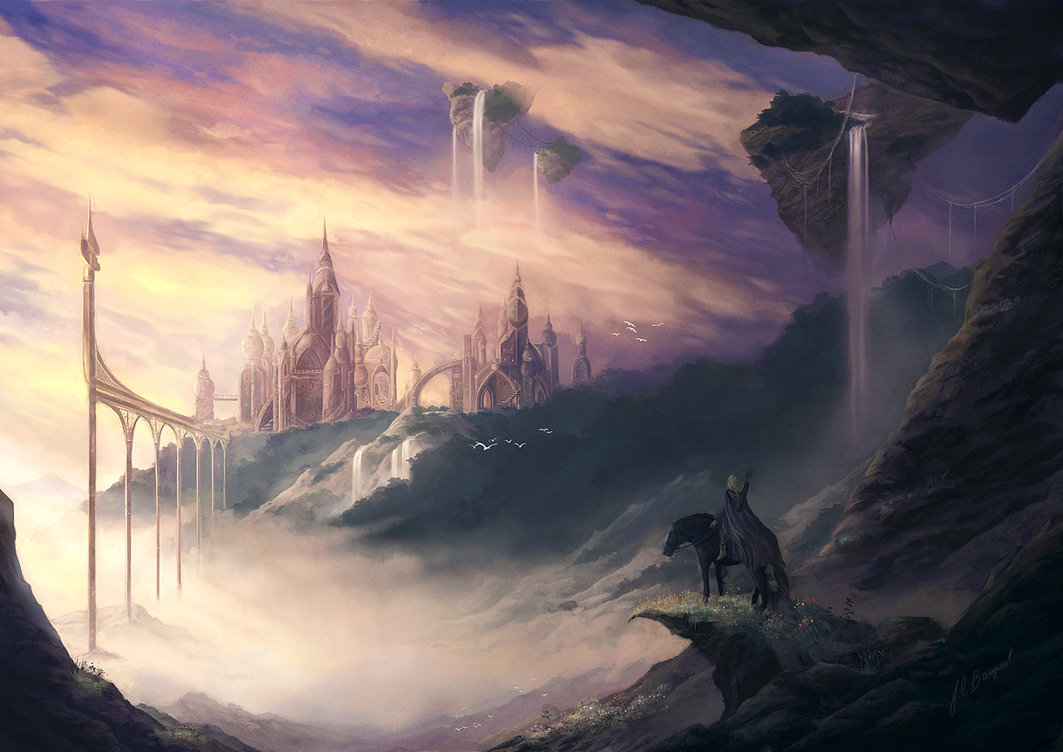the lost city by jcbarquet d3l02ol1 Digital Fantasy Paintings by Juan Carlos Barquet