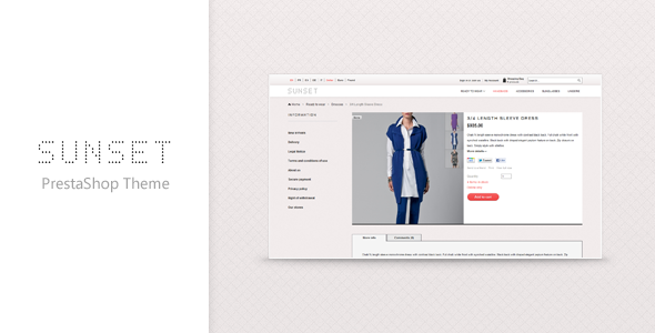 theme preview   large preview1 Clean and Modern E commerce Prestashop Themes