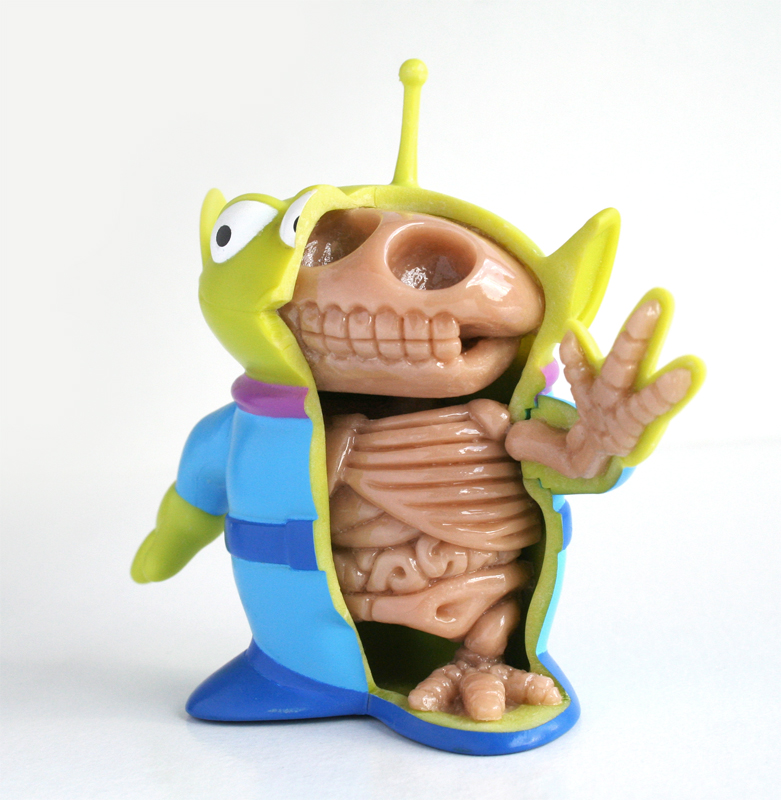 toy story alien anatomy sculpt by freeny d2yi2ul Creative Character Anatomy Sculptures by Jason Freeny