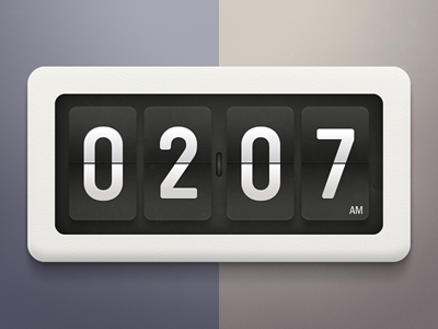 Flip clock by Tomas Gajar