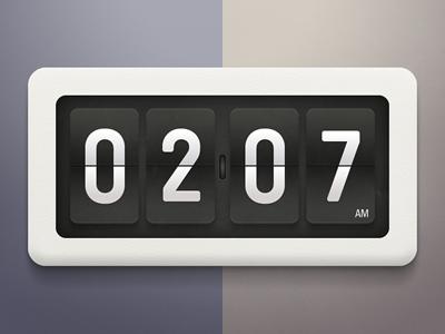 Flip clock by Tomas Gajar