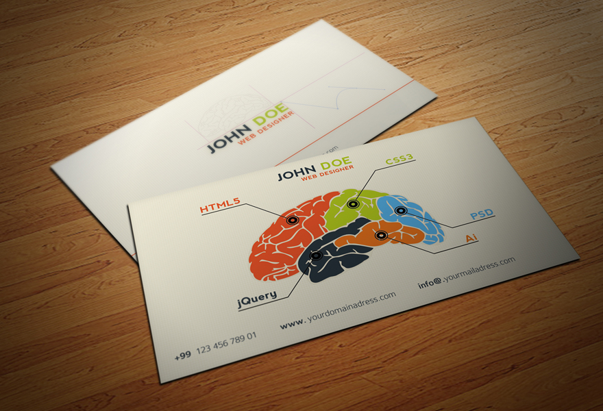 untitled 1 copy1 25 Illustration Based Business Card Designs