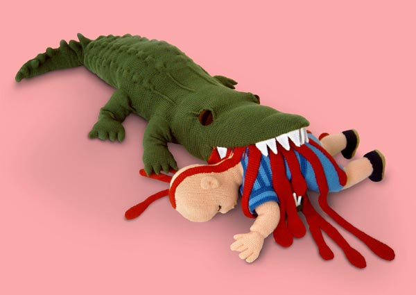 violent toys crocodile1 Disturbing and Violent Plush Toys by Patricia Waller