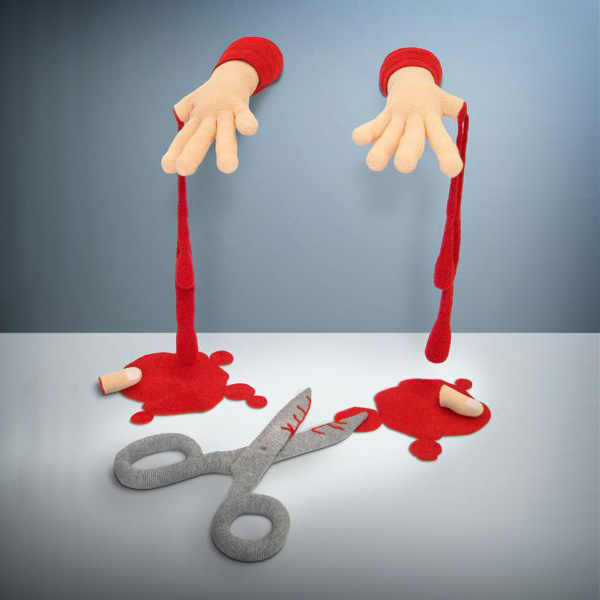 violent toys hands1 Disturbing and Violent Plush Toys by Patricia Waller