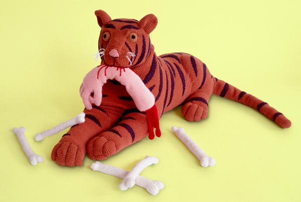 violent toys tiger1 Disturbing and Violent Plush Toys by Patricia Waller
