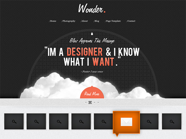 wonder1 30 Free PSD Web Design Templates