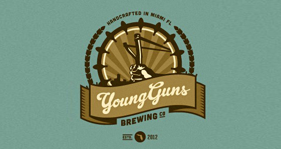young guns brewing l1 30 Creative Ribbon Logo Designs