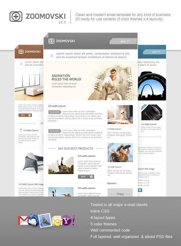 zoomovski email template preview   large preview1 45 Email Templates For Your Marketing Campaign