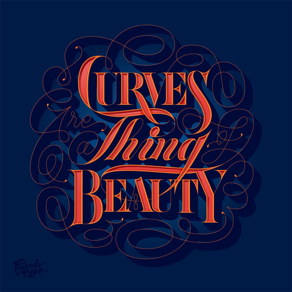 8faces curves remix1 Breakout Lettering Crafted by Erik Marinovich