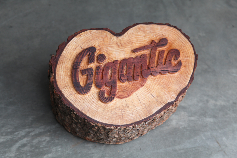 em gigantic carving1 Breakout Lettering Crafted by Erik Marinovich