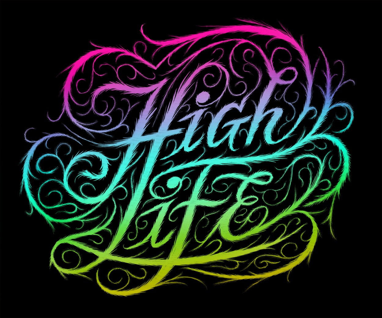 highlife1 Breakout Lettering Crafted by Erik Marinovich