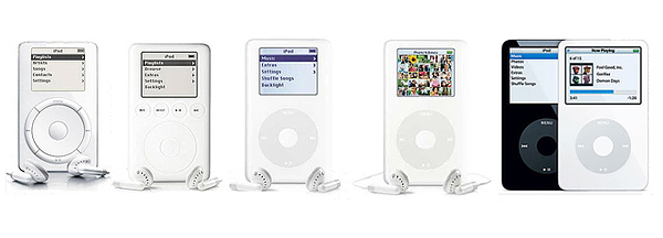 ipod evolution Iconic Design: Lomography to Arne Jacobsen Chair